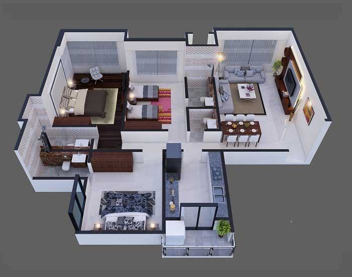 After-2D-3D Floor Plan